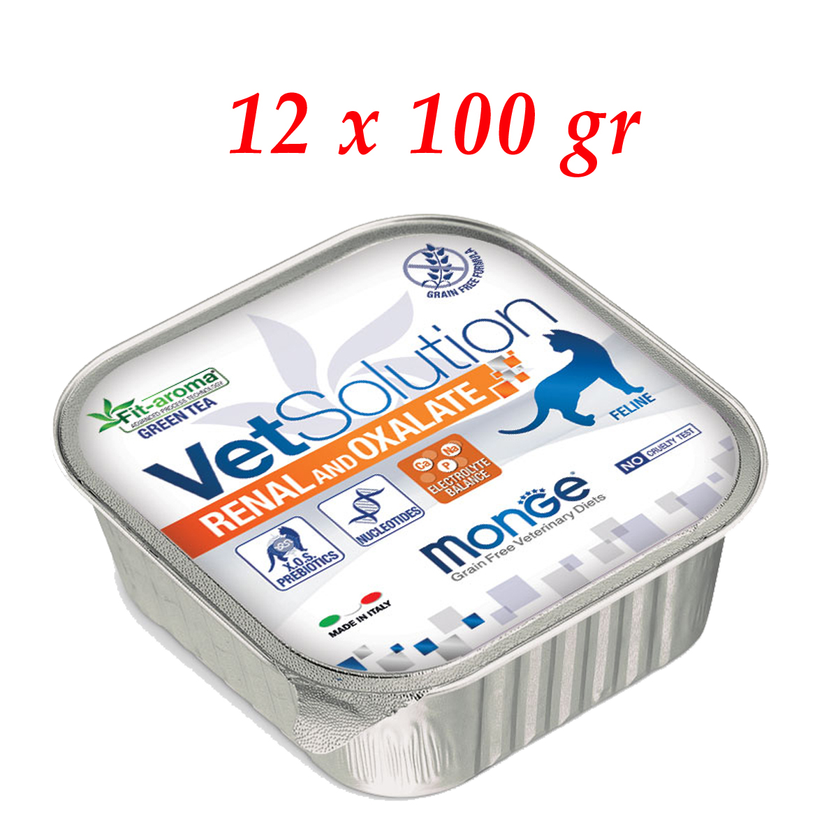 Monge VetSolution Gatto Renal and Oxalate 100 gr - 12 vaschette