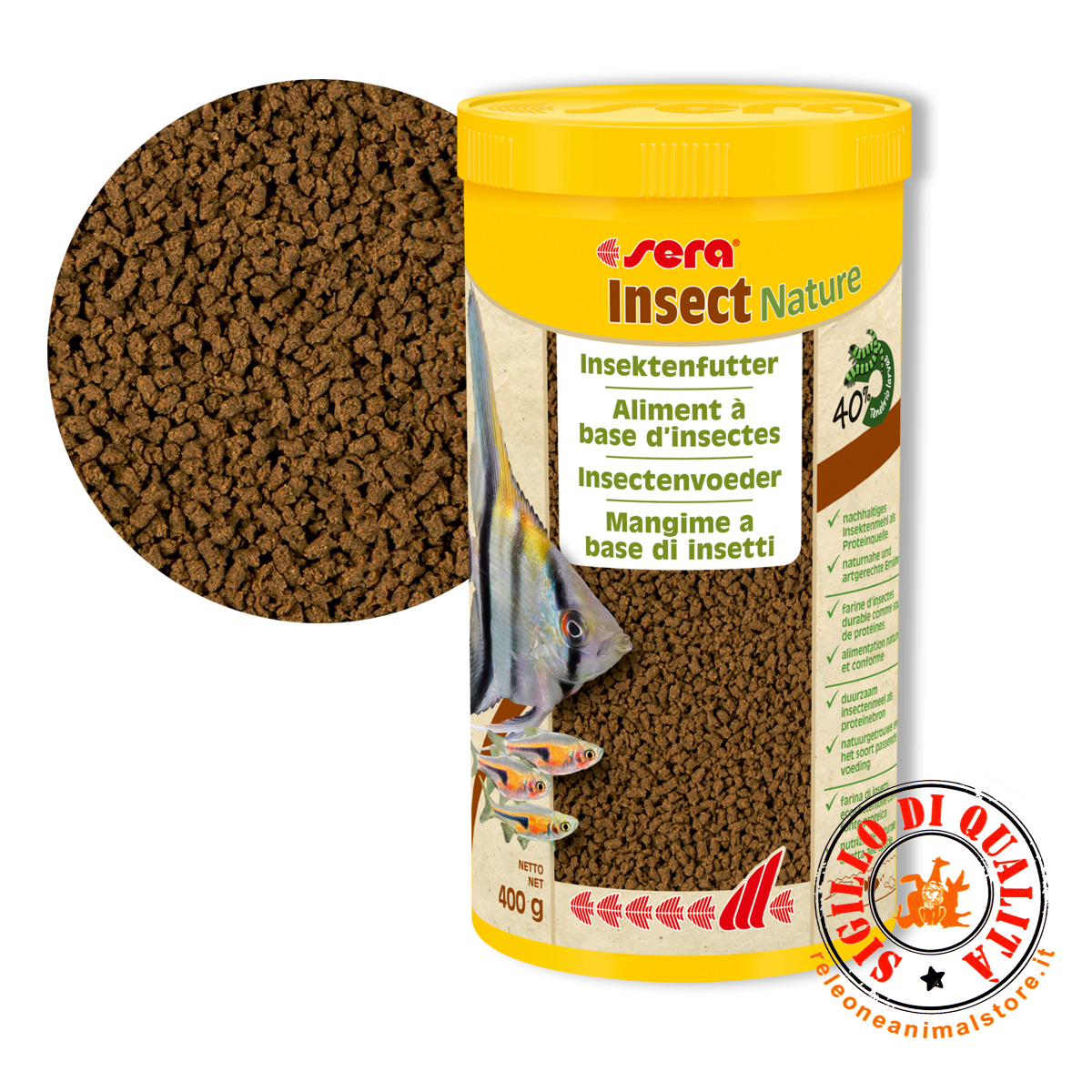 Sera Insect Nature mangime a base di Insetti 400 gr - 1000 ml