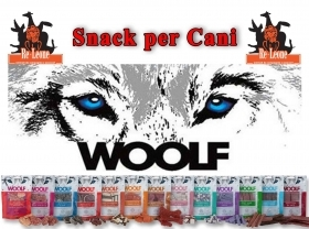 Snack per cani Woolf in vari g
